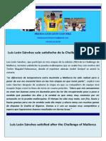 Nota de prensa Luis Leon Sanchez (11-02-10)