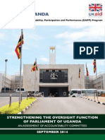 Strengthening the oversight function of the Parliament of Uganda