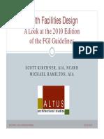 Health Facilities Design 2010 FGI Guidelines