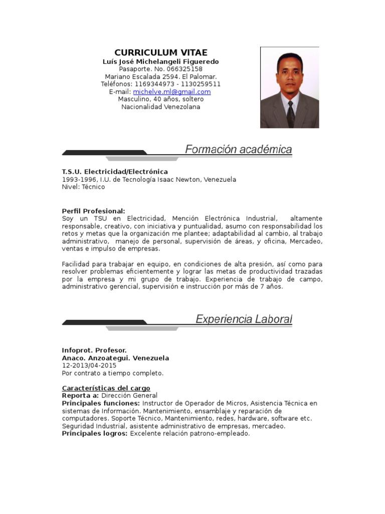 Atractivo Ejemplo De Currículum Técnico De Reparación De ...