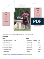 ESL Helpful Handouts - What is She Wearing? - Modifiers