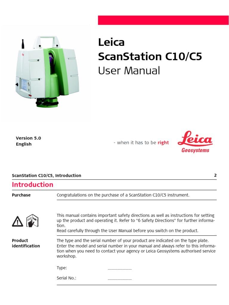 scanstation c10 c5 usermanual en battery charger image scanner rh scribd com Leica ScanStation Leica ScanStation