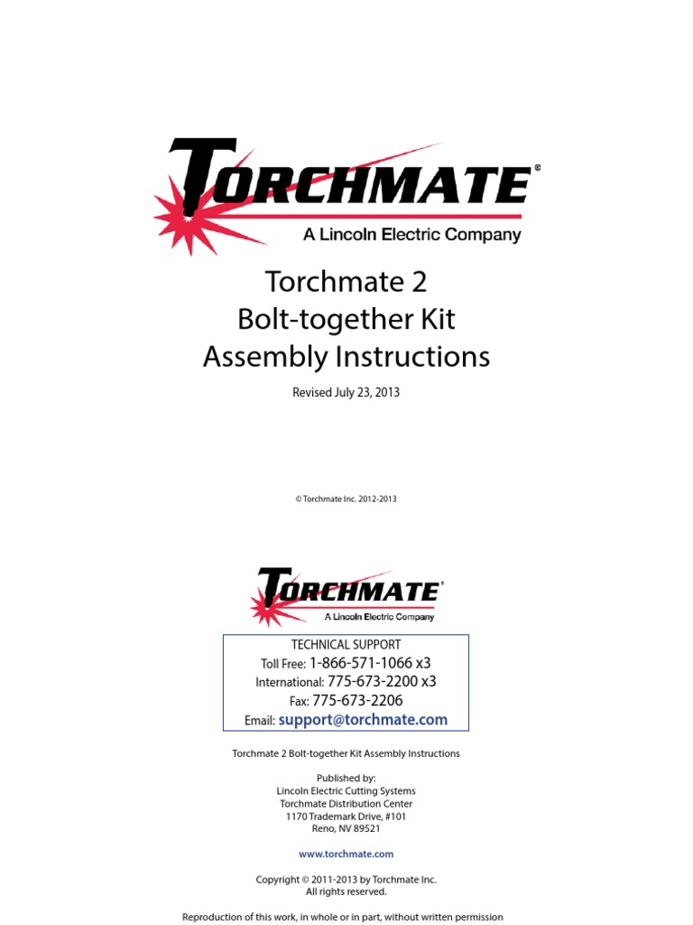Torchmate Wiring Diagram Circuit Schematic House Electrical Troubleshooting 2 Bolt Together Assembly Instructions Noise Numerical Ellis