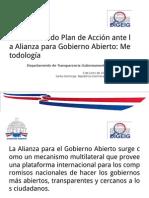 Monitoreo 2do Plan de Acción ante la Alianza para Gobierno Abierto