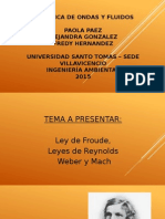 Diapositivas Expo de Mecanica,  ley de Frode, Reynolds, Math y weber