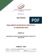 Reglamento de Revistas Científicas RIC