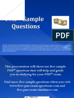 PMP Five Sample Questions