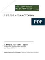 A Media Activism Toolkit for Interfaith Peace-Builders Delegates and Media Activists