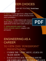 Careers in Engineering David Jones