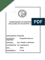 Geografia Fisica de La Argentina 2014