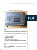 Sony TCD-D10PROII Portable DAT Recorder