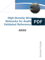 High-Density Wireless Networks for Auditoriums