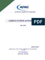 Comercio Exterior  Autopartes 2014