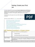 Learn SAP Testing