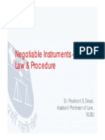 Negotiable Instruments and Indian Law