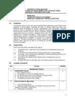 BPMG3013TransportPolicyPlanningSyllabus