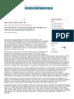 Dados - As Distorções Na Representação Dos Estados Na Câmara Dos Deputados Brasileira