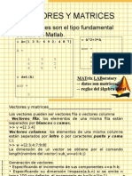 Vectores y Matrices Matlab, matworks