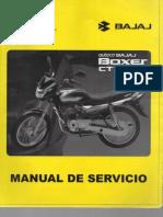 Manual de Servicio Boxer CT 100