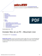 Instalar Mac en Un PC – Mountain Lion