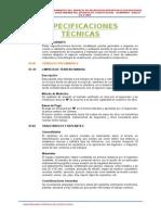 1.3 Especificaciones Tecnicas