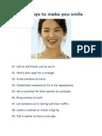 101 Ways to Make You Smile
