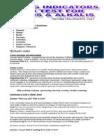 Testing Household Substances for Acids or Alkalis