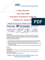 Premium Microsoft 70-680 574q Exam PDF Dumps for Free Share 151-200-Libre