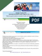 Domingo 7 de Junio de 2015 Solemnidad Corpus Christi Ciclo b