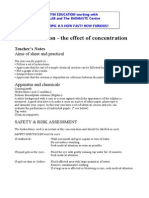 C1a 5.16 Effect of Concentration on Rate