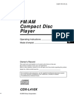 Sony CDX-L410 Manual