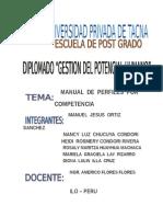 Manual de Perfiles Por Competencia de SOLMEC
