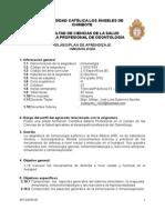 Silabo y Plan de Aprendizaje de INMUNOLOGIA 2015 01 Odontologia