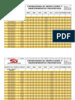 Cronograma de Mantenimiento 2015
