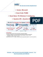 Premium Microsoft 70-680 574q Exam PDF Dumps for Free Share 251-300-Libre