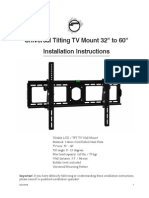 Universal Tilting TV Mount