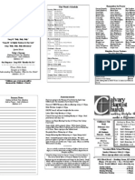 Calvary Bowling Green 2-14-2010 Bulletin