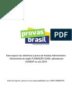 2 Prova Objetiva Analista Administrativo Nutricionista Fundacao Casa 2010 Vunesp
