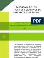 Taxonomia Objetivos Cognitivos Bloom