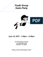 Swim Party Flyer June 2015