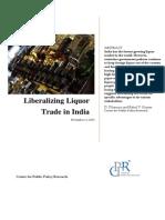 Liberalizing Liquor Trade in India