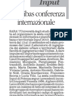 Input All'Unibas Conferenza Internazionale
