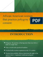 outline of Dr. Patricia Dixon on Polygamy