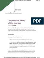 Oregon ECourt EFiling UTCRs Amended