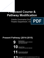 proposed course & pathway modifications (church, 2014)
