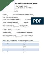 Grammar Exercises Simple Past