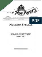 Budget Rectificatif 2014-15 Republique d' Haiti