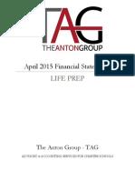 life prep - april 15 financial statements