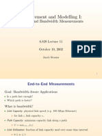 Measurement and Modelling I: