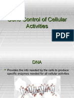 Gene Control of Cellular Activities